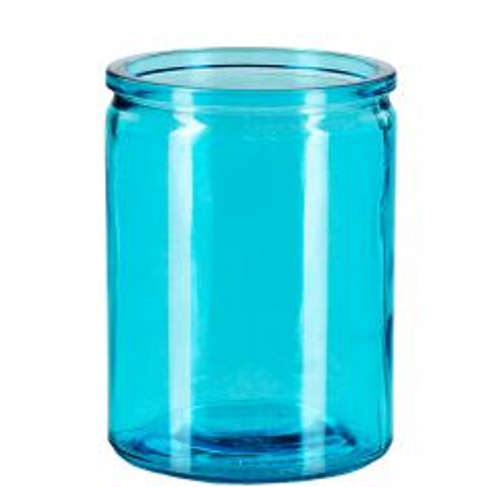 12oz calypso glass jar aqua