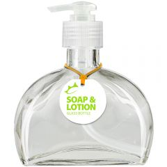 Fiji 6oz Recycled Glass Lotion or Soap Bottle - Clear