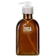 Couronne Soap or Lotion 8.5oz Amber Roma Glass Bottle